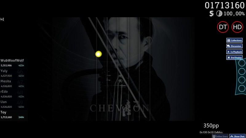 Osu! | Toy | Susumu Hirasawa - CHEVRON [KIRBY Mix] HD,DT SS 426pp