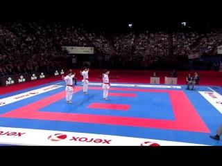 Karate Japan vs Italy. Final Male Team Kata. WKF World Karate Champions 2012