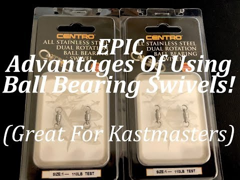 Epic Advantages Of Ball Bearing Swivels! Great For Kastmaster Spoons!
