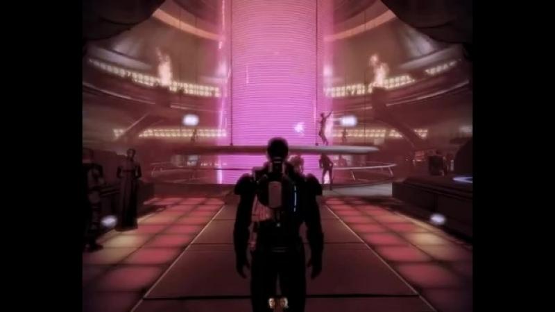 Mass Effect 2 Afterlife cylindrical screen (Saki Kaskas - Callista)