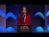 Речь Дакоты Джонсон перед вручением премии Тимоти Шаламэ на Hollywood Awards 2017