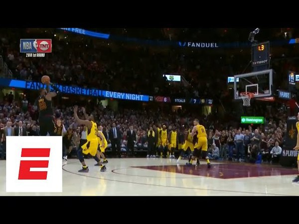 Full sequence: LeBron James blocks Victor Oladipo, hits game-winning 3 in Game 5 vs. Pacers   ESPN