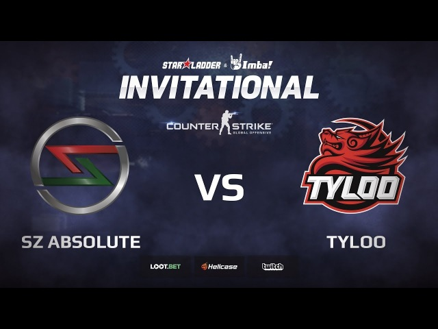 SZ Absolute vs TyLoo map 2 cache StarLadder ImbaTV Invitational Chongqing