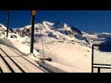 Modern disco style 80s. Magic Race - Travel Extreme zоnе Train Drive Mountain magic snow mix