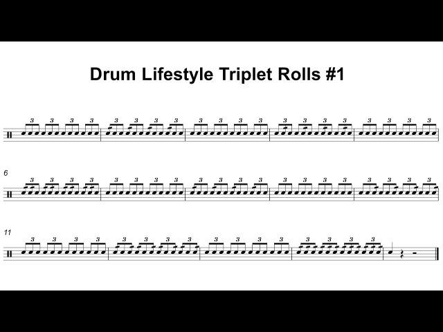 Triplet Rolls Exercise 1 Tempos 80100120140160180200