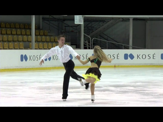 ISU 2015 Jr. Grand Prix Free Dance Riga Jogaile ZILIONYTE / Luca MORINI LTU