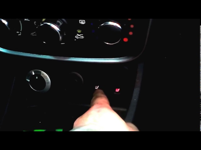 Перенос кнопок обогрева сидений на Дастере