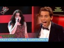 FASTEST CHAIR TURN AUDITIONS IN THE VOICE PART 2