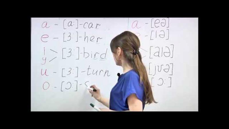 Английский на 5! Урок 3. Третий и четвертый типы чтения. Сочетания гласных
