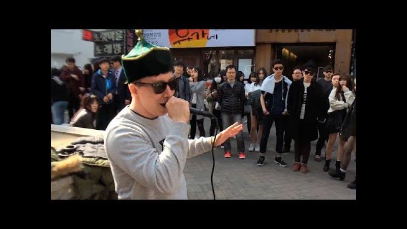 My throat singing performance in Seoul (South Korea)