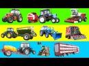 Сельхозтехника для детей. Мультик про комбайн и трактор. Спецтехника для фермы