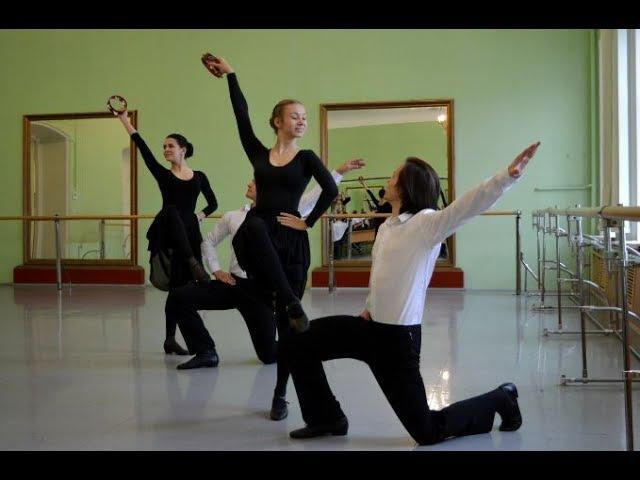 Зачёт по классическому танцу Тарантелла The competition for classical dance Tarantella