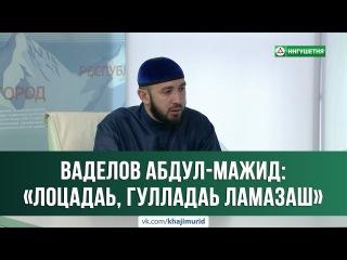 © Ваделов Абдул-Мажид - «Лоцадаь, гулладаь ламазаш. Фу хана ду уж?» 19.07.2017