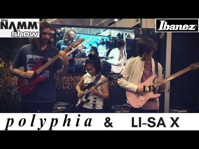 Polyphia Li-sa X Demo Ibanez AZ guitars @ NAMM 2018
