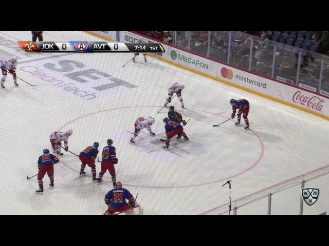 Моменты из матчей КХЛ сезона 16/17 • Гол. 0:1. Чайковски Михал (Автомобилист) открывает счет матча 26.01