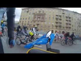 Дорога к месту старта и сам Московский велопарад 28 мая 2017