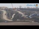Строители ж/д подходов к мосту через Керченский пролив роют тоннель под автотрассой