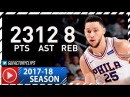 Ben Simmons Full Highlights vs Warriors (2017.11.18) - 23 Pts, 12 Ast, 8 Reb