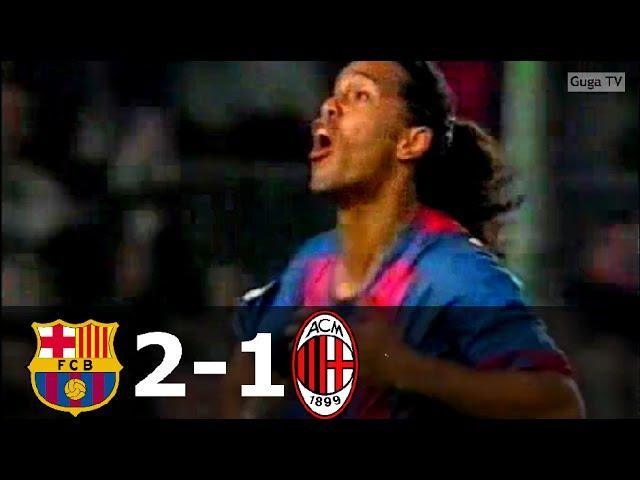 Barcelona vs AC Milan 2-1 - UCL 20042005 - Full Highlights