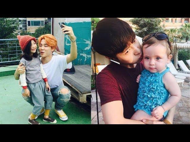 Kpop Idols With Kids Cute Moment