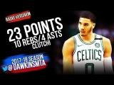 Jayson Tatum Full Highlights 2018.3.20 Boston Celtics vs Thunder - 23-10-4, CLUTCH! FreeDawkins