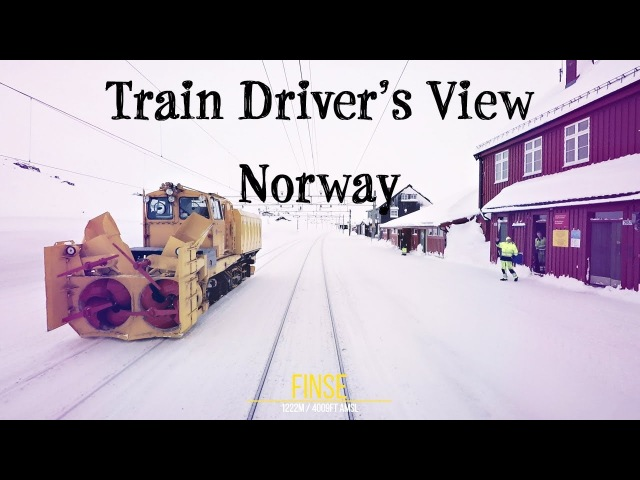 Train Driver's View: Morning express from Bergen bound for Oslo
