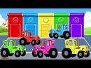 ЕДЕТ ТРАКТОР 🚜 по полям - Мультик про машинки Учим цвета - Синий трактор - Развив ...