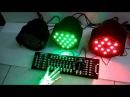 Tes parled 54 x 3 w RGBW Mixer DMX 192