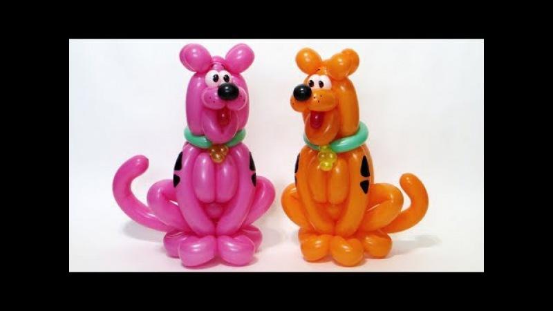 Собака из шаров Скуби Ду Scooby Doo the dog from balloons Subtitles