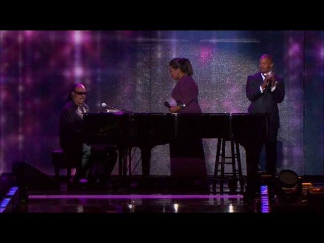 Jamie Foxx Stevie Wonder on Oprah! 25 years [1080p HD]