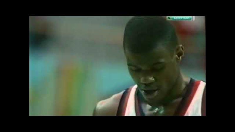 1988. Полуфинал Олимпиады в Сеуле США - СССР/ 1988 Basketball USA-USSR