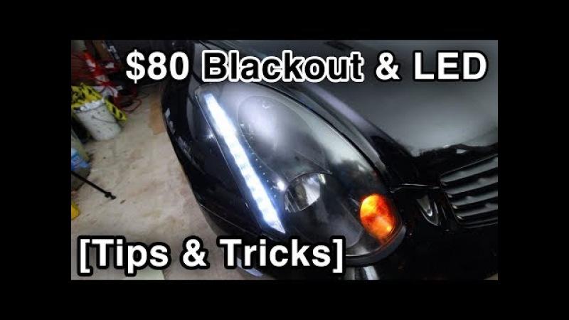 Headlight Blackout LED Install - 2 Year Review [w/Tips Tricks Infiniti G35]