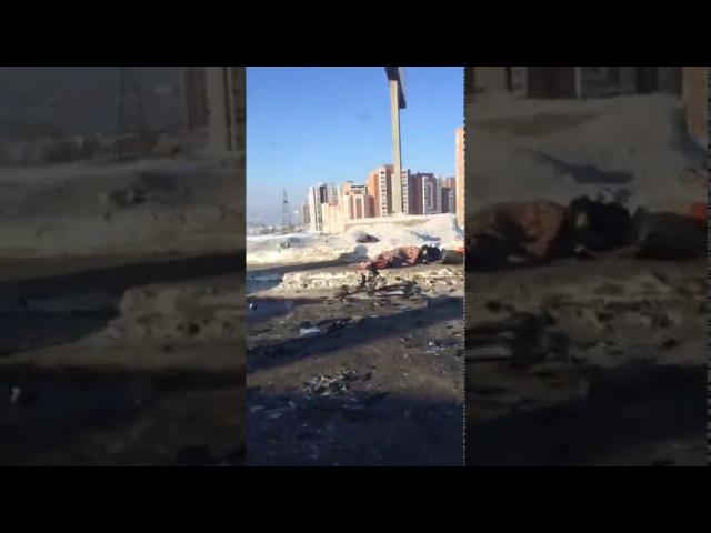 Последствия аварии Porsche Cayenne и Нивы на плотине ГЭС Иркутск 10.12.2017