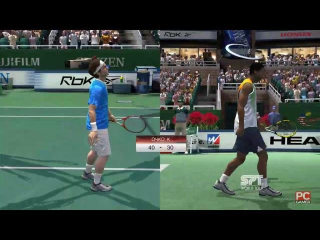 Roger Federer vs Gaël Monfils. US Open. Virtua Tennis 3