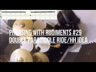 Phrasing with Rudiments #29 - Double Paradiddle groove idea