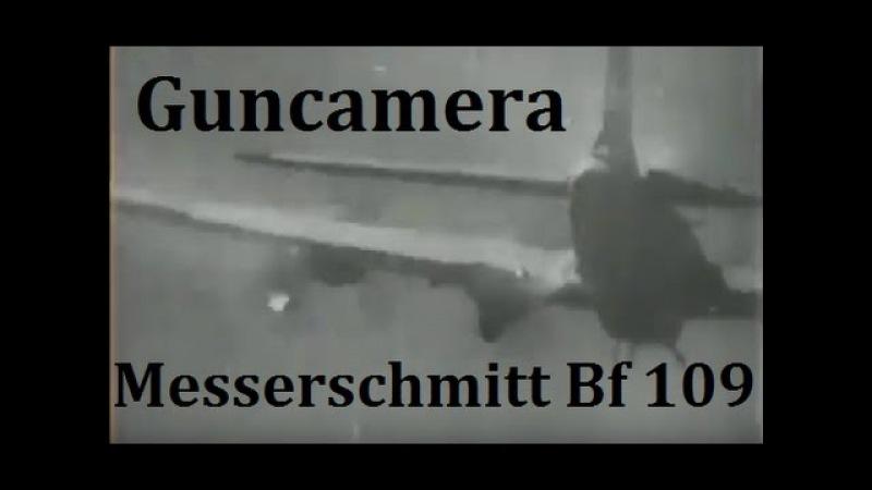 B-24 and B-17 going down Guncamera Messerschmitt Bf109 Focke Wulf 190 and 88mm Flak firing 1944