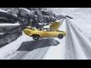 Смертельная зимняя дорога! Игра как мультик про машинки! Быстрые тачки на зимней дороге