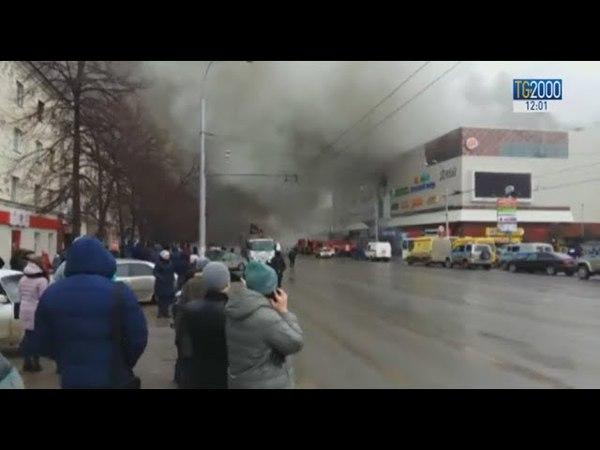 Incendio in un centro commerciale della Siberia: la maggioranza delle vittime sono bambini