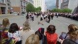 Цветы и танец для учителей школы N40