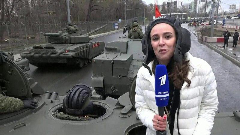 Вцентре Москвы начинается репетиция Парада вчесть Дня Победы, многие улицы перекрыты. Новости. Первый канал