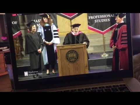 Placido Domingo receives Honorary Doctorate Degree Manhattan School of Music May 11, 2018