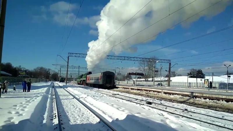 Паровоз Монино 23 февраля 2018