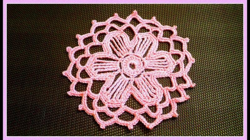 Узор мотив крючком Crochet pattern