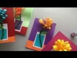 Делаем открытки с цветами!