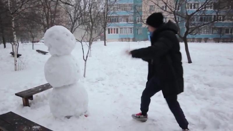 Прикол_Как отпиздить снеговика_2015_Юмор_Мдк Приколы на media-ninja.ru