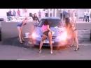Car BMW and erotic dance of beautiful girls