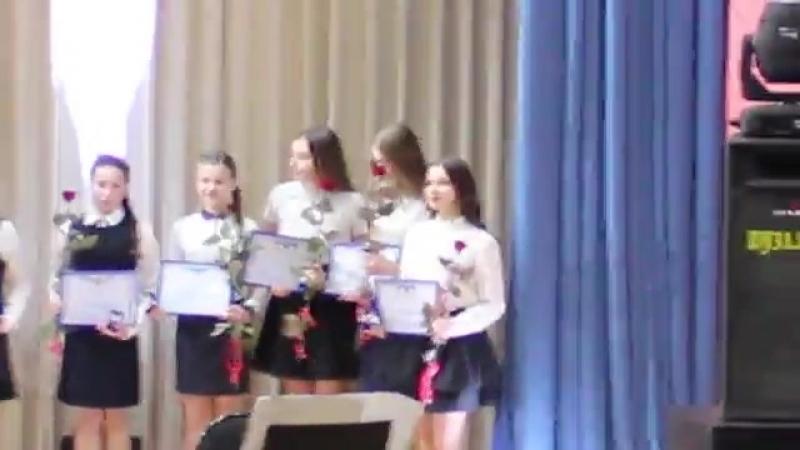 Анастасия Сахно - вручение СЕРТИФИКАТА на получение персональной стипендии главы