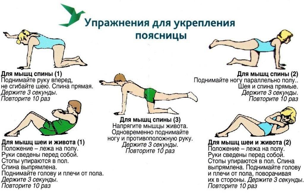 Упражнения для спины в домашних условиях с картинками