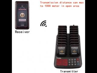 Tivdio T-115 99 канала ресторан пейджер Беспроводной гость подкачки очереди Системы 18 coaster пейджер приемник + 1 клавиатуры п