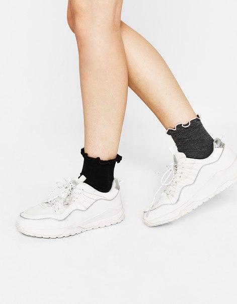 Набор из 2 пар носков со сборкой